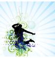 artistic man jumping poster vector image
