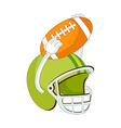 A helmet of rugby vector image vector image