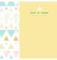 Abstract ikat triangles stripes square torn vector image vector image