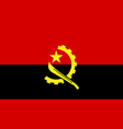 angola flag icon in flat style national sign vector image vector image