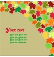 autumn maple leaves background card vector image vector image