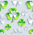 Background seamless pattern with 3d Patrick clover vector image vector image