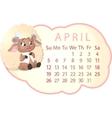 beautiful calendar vector image