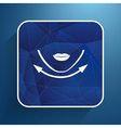Beautiful woman face chin oval align icon vector image