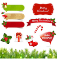 Big Christmas Icons Set With Border vector image vector image