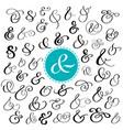 big collection of custom handwritten ampersands vector image vector image