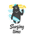 black bear design for t-shirt vector image