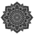 black filigree mandala vector image vector image