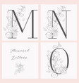 blooming floral elegant monograms and logos vector image
