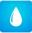 blue droplet symbol vector image vector image