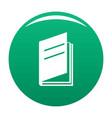 book ajar icon green vector image vector image