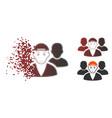 broken pixel halftone guy friends icon vector image vector image