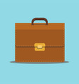 business briefcase suitcase bag for documents vector image vector image