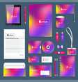 business set of corporate identity template vector image vector image