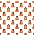 Call center pattern seamless vector image vector image