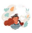capitanwoman wearing sailor vector image