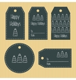 Christmas gift tags from chalky texture Ready to vector image vector image