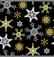christmas seamless pattern with snowflakes in vector image