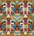 colorful baroque seamless pattern light vector image vector image