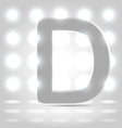 D over lighted background vector image vector image