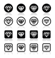 Diamond luxury icons set vector image vector image