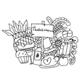 Doodle art of thanksgiving vector image vector image