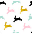 easter seamless pattern with rabbits vector image vector image