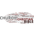 evangelism word cloud concept vector image vector image