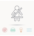 Fasten seat belt icon Human silhouette sign vector image vector image
