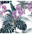 floral fashion tropic wallpaper vector image vector image