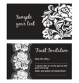 flower lace greeting card space for your text vector image vector image