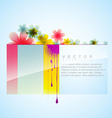 flower style background vector image