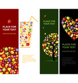 fruits banners vector image
