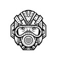 futuristic face mask face covering or space vector image vector image
