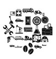 gas station icons set simple style vector image vector image