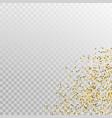 glitter gold corner template banner vector image
