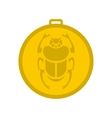 Gold scarab amulet icon flat style vector image vector image