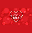 heart frame on bokeh effect for valentines vector image vector image