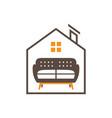 home interior logo design vector image