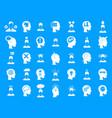 human idea icon blue set vector image