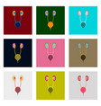 icons set in flat style excretory system vector image vector image