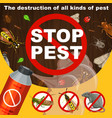insects extermination and pest control banner vector image