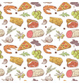 italian food seamless pattern hand drawn vector image vector image