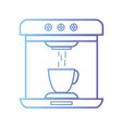 line technology coffee maker electric kitchen vector image