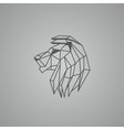 linear lion head logo vector image