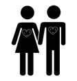 lovers couple isolated icon vector image