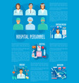 medical personnel and hospital doctor poster vector image vector image