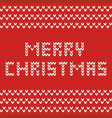 merry christmas red knitting card