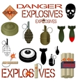 Military and industrial explosives vector image vector image