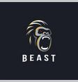 minimalist powerful gorilla logo icon vector image vector image